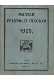 Magyar földrajzi évkönyv - Régikönyvek