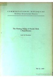 The Nesting Habits of Finnish Birds I. Passeriformes (Finn madarak fészkelési szokásai) - Régikönyvek