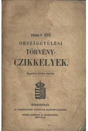 1844-ik évi Országgyűlési Törvényczikkelyek - Régikönyvek