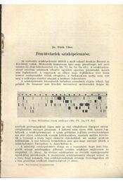 Fém-ötvözetek színképelemzése - Régikönyvek
