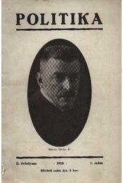 Politika 1918. 1. szám II. évfolyam - Régikönyvek