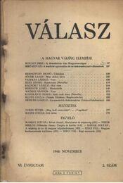 Válasz 1946. november VI. évf. 2. szám - Régikönyvek