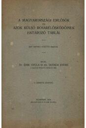 A magyarországi emlősök és azok külsö rovarélősködőinek határozó táblái - Régikönyvek