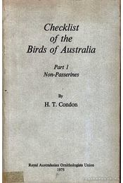 Checklist of the Birds of Australia - Régikönyvek