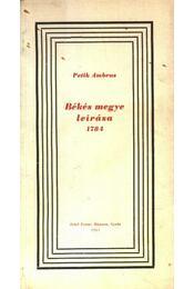 Békés Megye leírása 1784 - Régikönyvek