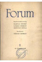 Forum III. évfolyam 1. - Régikönyvek