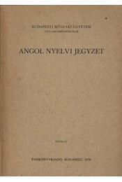Angol nyelvi jegyzet - Régikönyvek