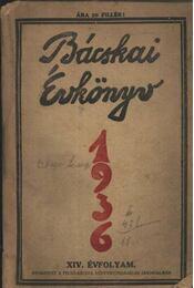Bácskai Évkönyv 1936. - Régikönyvek