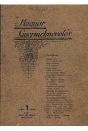 Magyar Gyermeknevelés III. Évf. 1. sz. 1936. - Régikönyvek