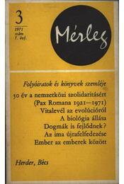 Mérleg 1971/3 - Régikönyvek