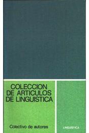 Coleccion de articulos de linguistica - Régikönyvek