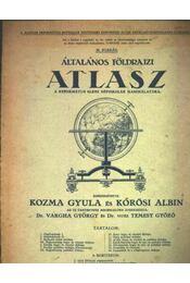 Általános Földrazi Atlasz - Régikönyvek