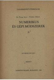 Numerikus és gépi módszerek II. - Régikönyvek