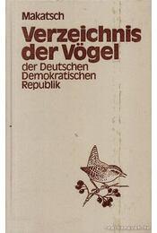 Verzeichnis der Vögel der Deutschen Demokratischen Republik - Régikönyvek