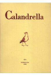 Calandrella 1992. VI/1. - Régikönyvek