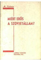 Miért erős a Szovjetállam? - Régikönyvek