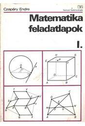 Matematika felaldatlapok I. - Régikönyvek