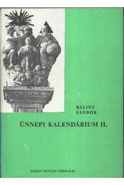 Ünnepi kalendárium II. - Régikönyvek