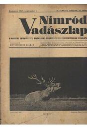 Nimród Vadászlap 1947. szept. 1. - Régikönyvek