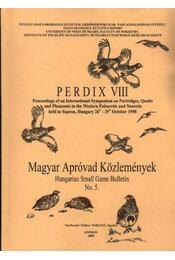 Magyar apróvad közlemények 5. - Régikönyvek