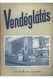Vendéglátás II. évfolyam 5. szám 1958. október - Régikönyvek