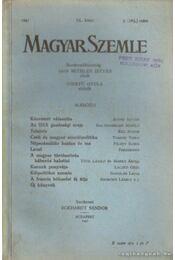 Magyar Szemle 1941. XL. kötet 3. (163.) szám - Régikönyvek