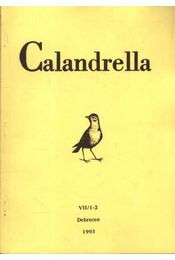 Calandrella 1993 VII/1-2 - Régikönyvek