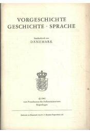 Vorgeschichte Geschichte - Sprache - Régikönyvek
