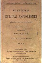 Egyetemes európai jogtörténet - Régikönyvek