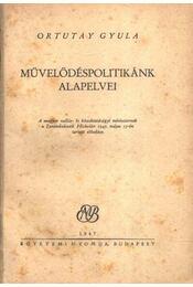 Művelődéspolitikánk alapelvei - Régikönyvek