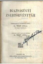 Térfy Igazságügyi Zsebkönyvtár - Régikönyvek