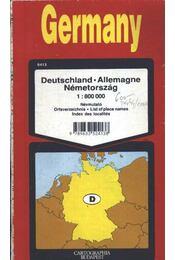 Germany- Németország (térkép 1:800000) - Régikönyvek