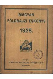 Magyar földrajzi évkönyv 1928 - Régikönyvek