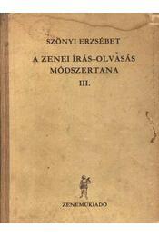 A zenei írás-olvasás módszertana III. - Régikönyvek