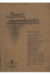 Magyar Gyermeknevelés III. Évf. 4. sz. 1936. - Régikönyvek