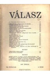 Válasz 1947. április VII. évfolyam 4. szám - Régikönyvek