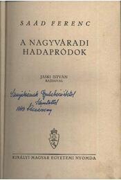A Nagyváradi hadapródok - Régikönyvek