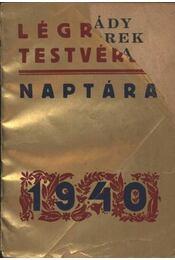 Légrády testvérek naptára 1940 - Régikönyvek