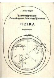Fizika megoldások I-II. kötet - Régikönyvek