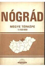 Nógrád megye térképe (1:150 000) - Régikönyvek
