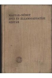 Magyar - Német jogi és államigazgatási szótár - Régikönyvek