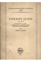 Espersit János (1879-1931) - Régikönyvek