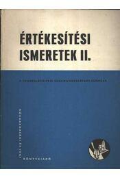 Értékesítési ismeretek II - Régikönyvek