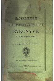 A Magyarországi Kárpátegyesület évkönyve - XIV. évfolyam, 1887 - Régikönyvek