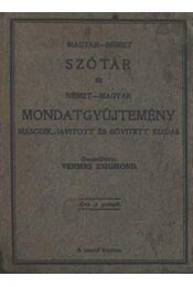 Magyar-német szótár és német-magyar mondatgyüjtemény - Régikönyvek