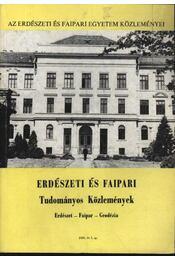 Erdészeti és faipari Tudományos közlemények 1986. év 1. sz - Régikönyvek