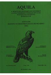 Aquila évkönyv 1994. CI.évfolyam 101. sz - Régikönyvek