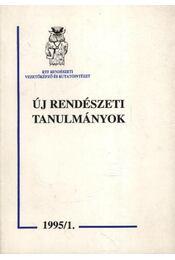 Új rendészeti tanulmányok - Régikönyvek
