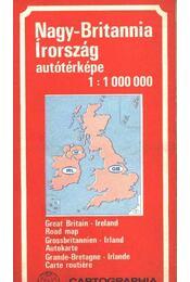 Nagy-Britannia Írország autótérképe - Régikönyvek