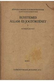 Egyetemes állam- és jogtörténet I-II. - Régikönyvek